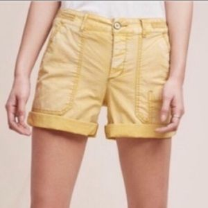 Anthropologie Hei Hei Wanderer Yellow Chino Shorts